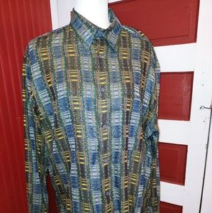 Jhane Barnes Cotton Button Shirt M